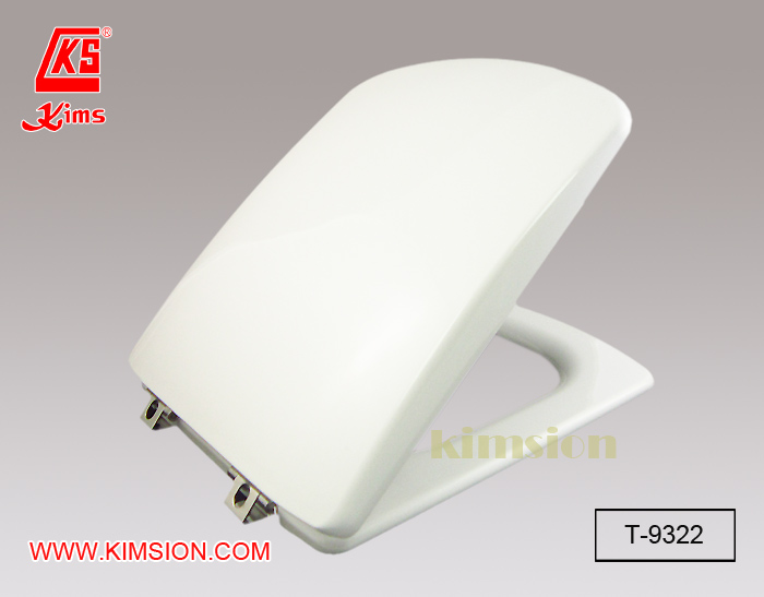 T 9322 Plastic Toilet Seat And Cover C W Metal Hinge